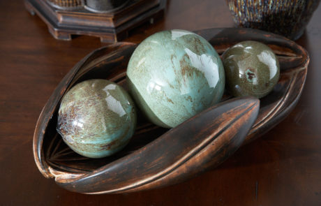 Ceramic bowl with Orbs