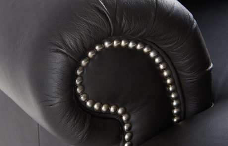 beaded leather furniture arm