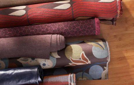 warm color fabric rolls