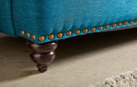 colorful beaded custom furniture leg